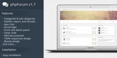 phpForum - Social Forum PHP Script