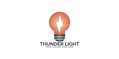 Thunder Light Logo Design