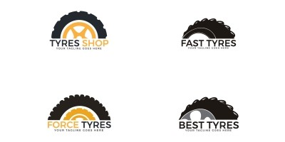 Set Of Tyres Logo Designs