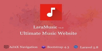 LaraMusic - Music Website Script