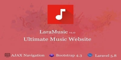 LaraMusic - Music Website Script