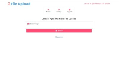 Laravel Ajax Multiple File Upload Download Delete