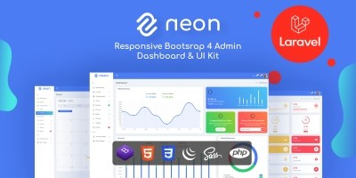 Neon - Responsive Bootstrap 4 Admin Template
