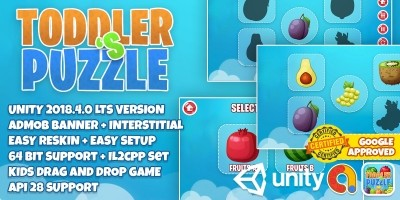 Baby Toddlers Puzzle - Unity Source Code