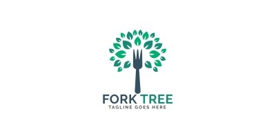 Fork Tree Logo Design