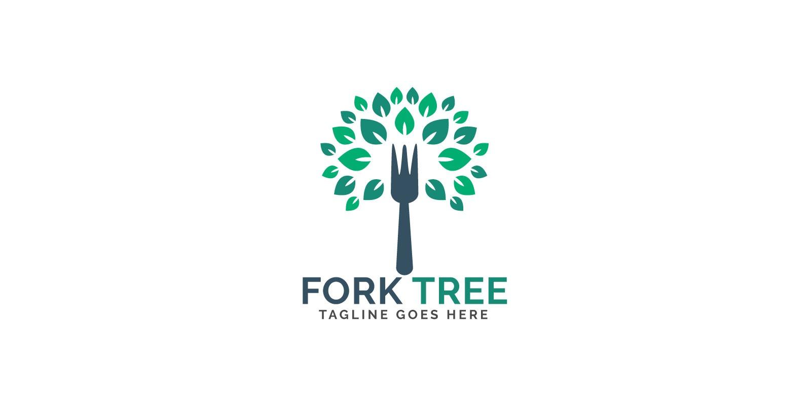 Fork Tree Logo Design
