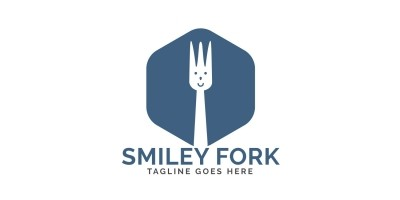 Smiley Fork Logo Design
