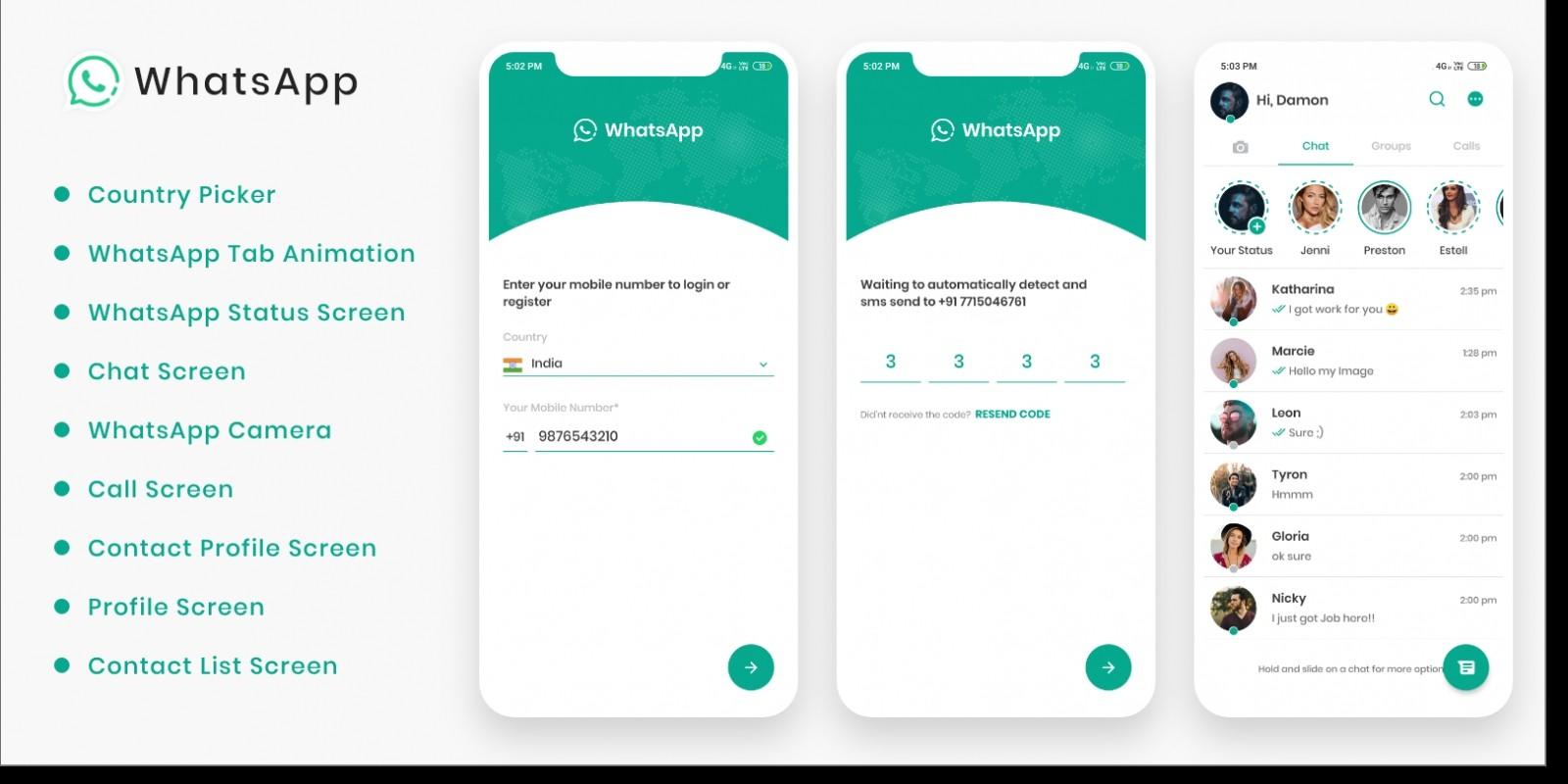 WhatsApp React Native Theme