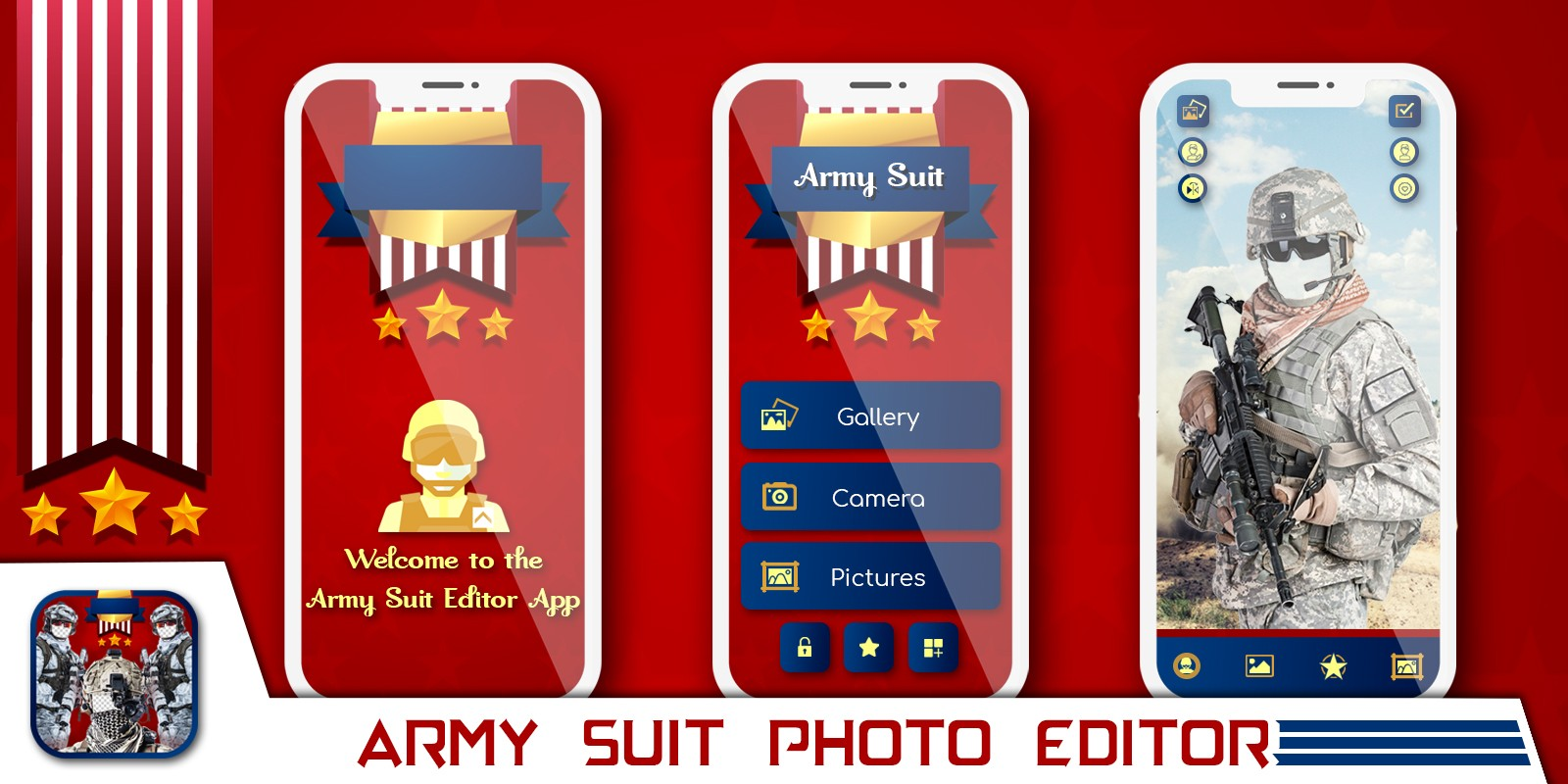 Army Suit Photo Editor - Android Source Code