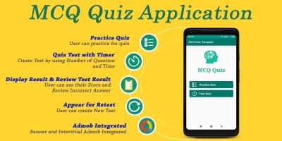 MCQ Quiz Application Android Source Code