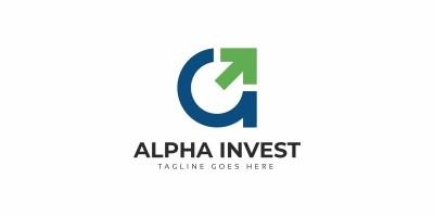 Alpha Invest - A Letter Logo