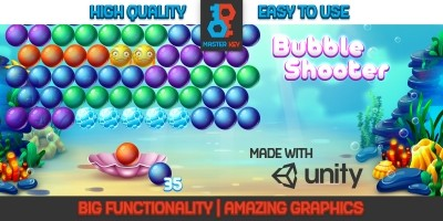 Aqua Bubble Shooter Unity Game Template