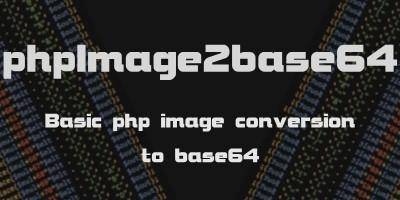 phpImg2b64 - Image To Base64 PHP
