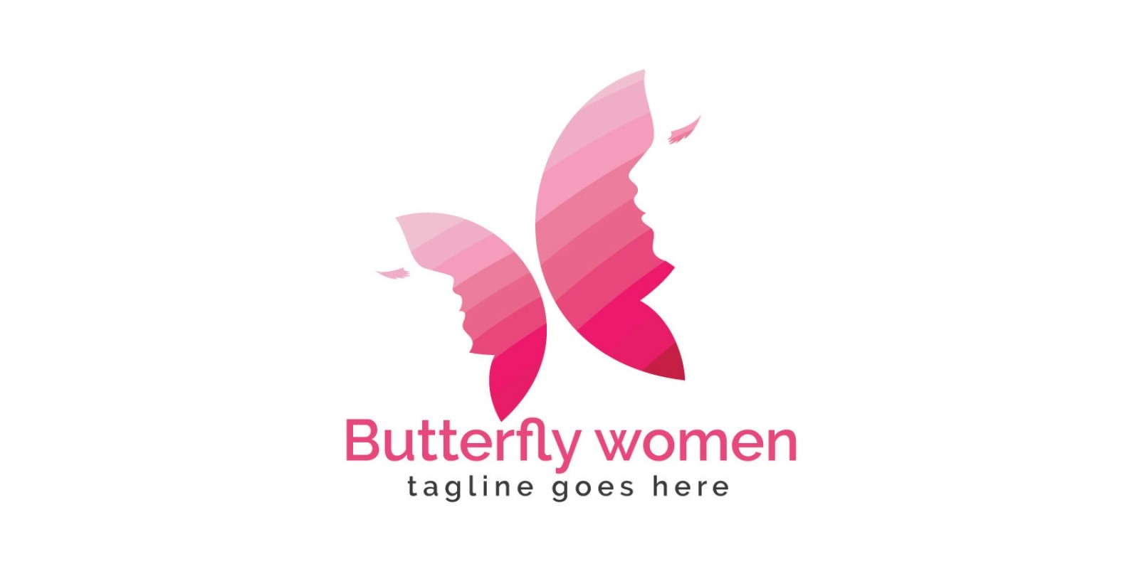 Butterfly Women Logo Design