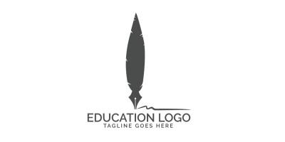 Nib And Feather Logo Design