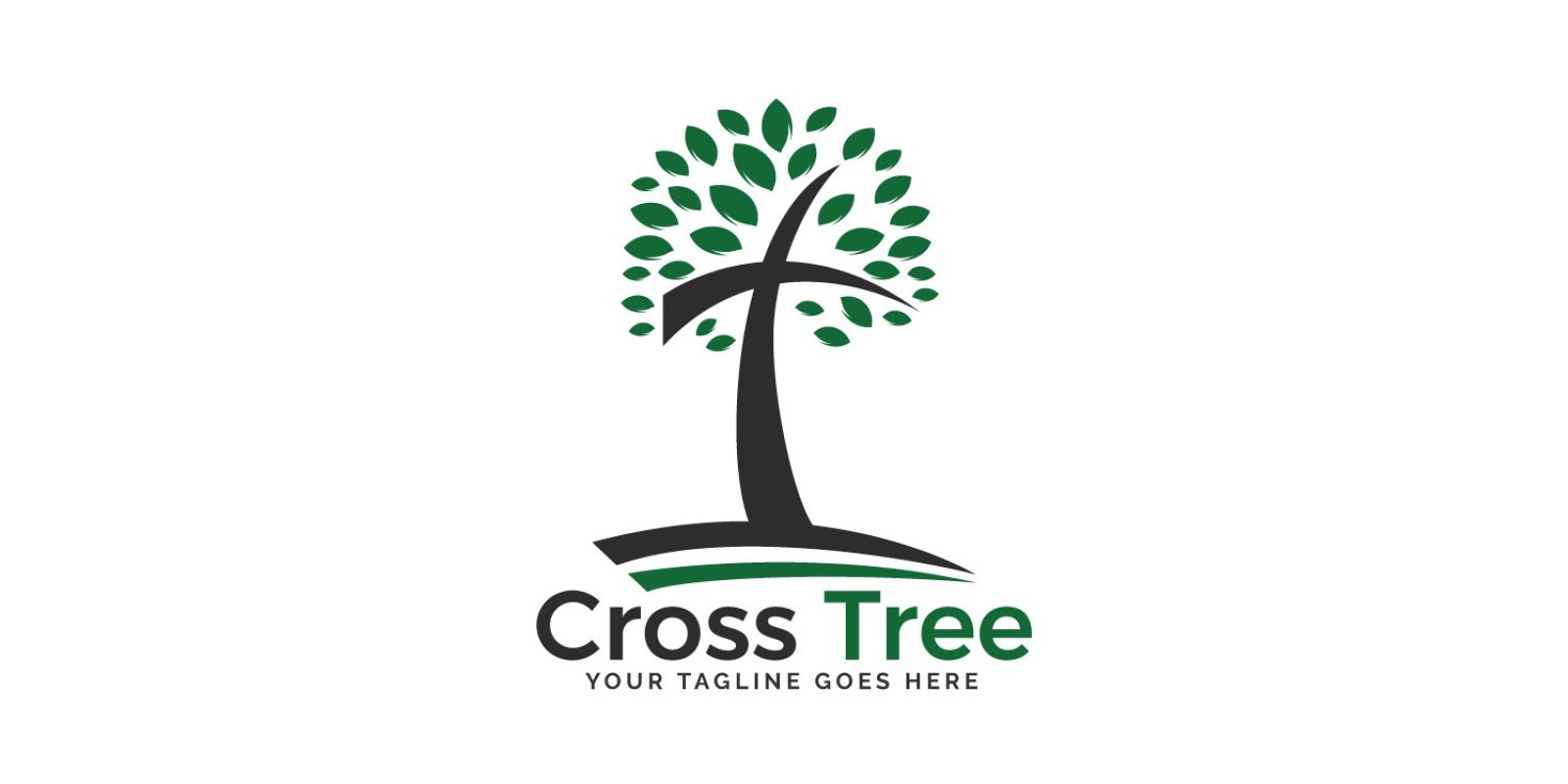 Cross tree logo Design