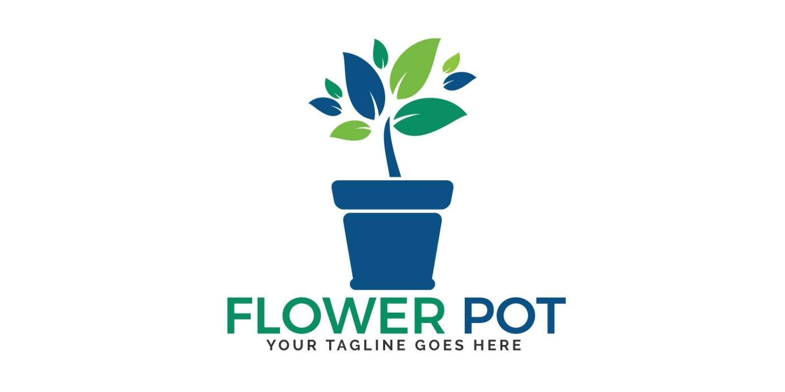 Flower Pot Logo Design