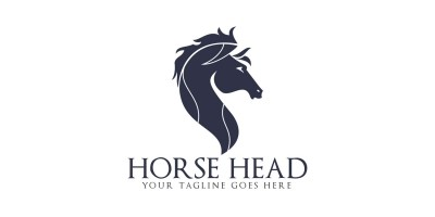 Horse Head Vector Logo Design