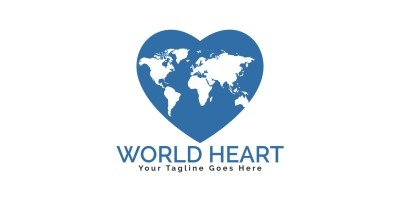 World Heart Logo Design