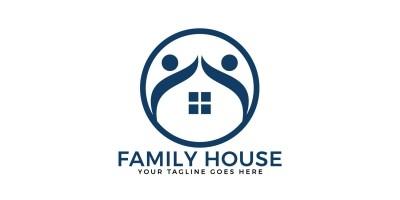 Family House Vector Logo Design