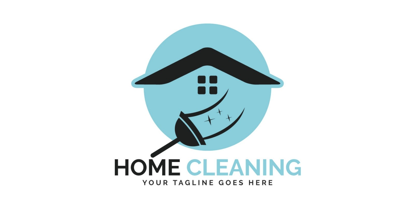 Home Cleaning Vector Logo Design