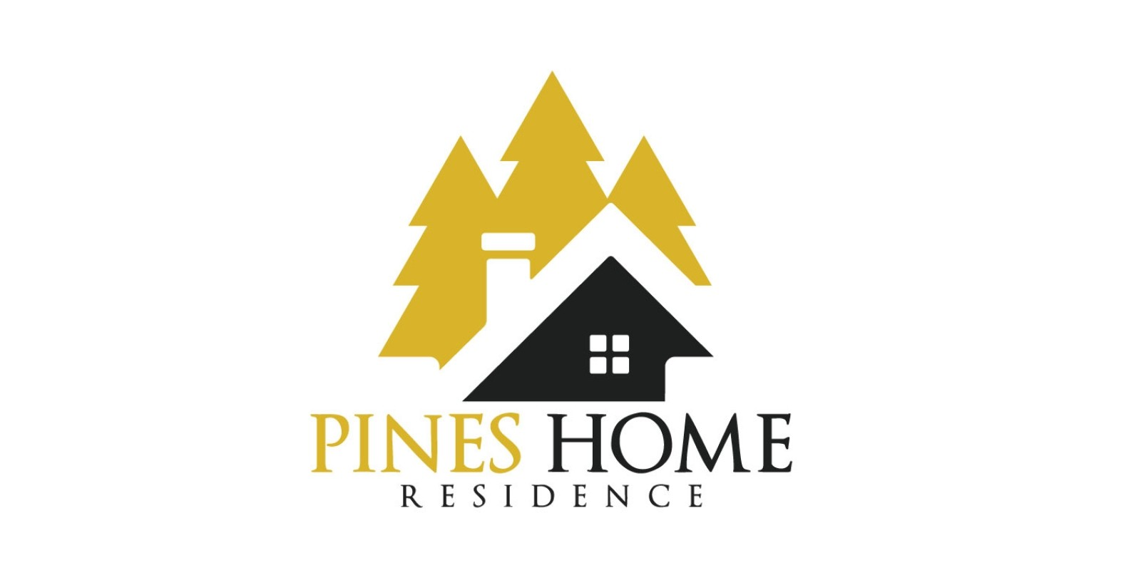 Pine Home Vector Logo Design