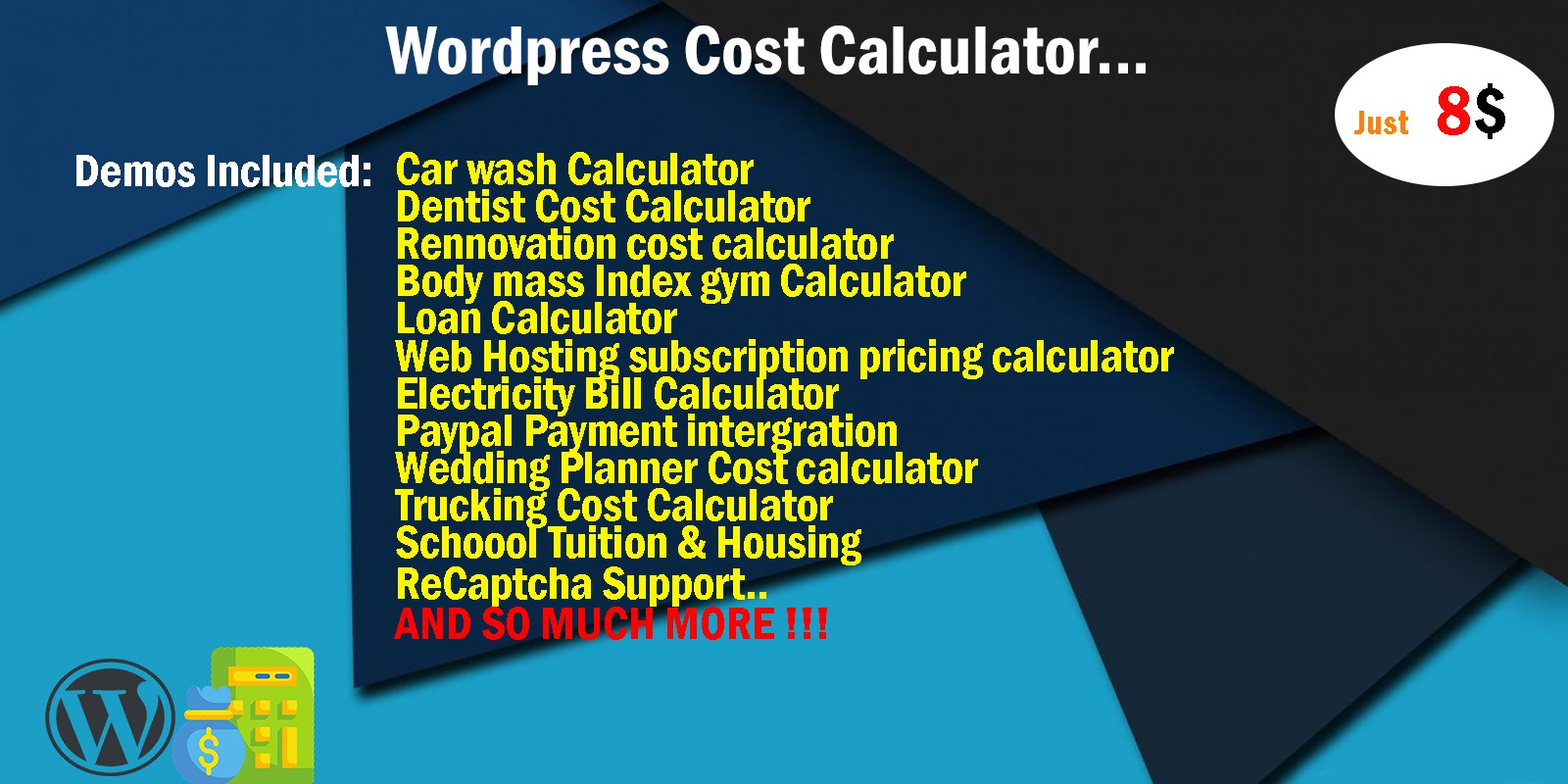 Cost Calculator WordPress Calculator