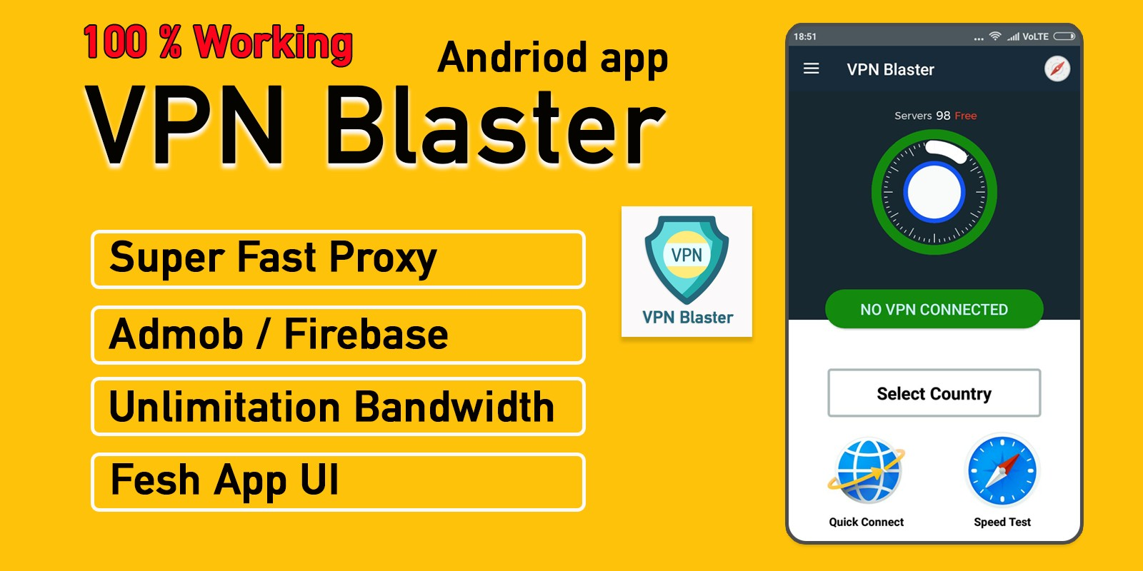 VPN Blaster - Android Source code