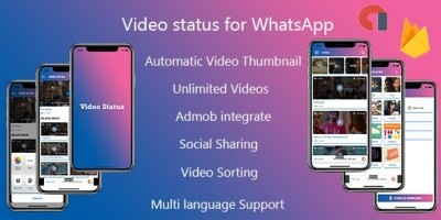 Video Status  App - iPhone App with Admin Panel
