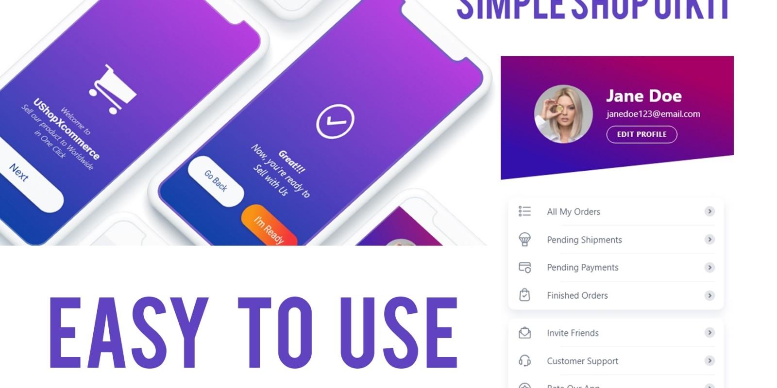 Ushop Xcommerce E-Commerce App Ui Kit