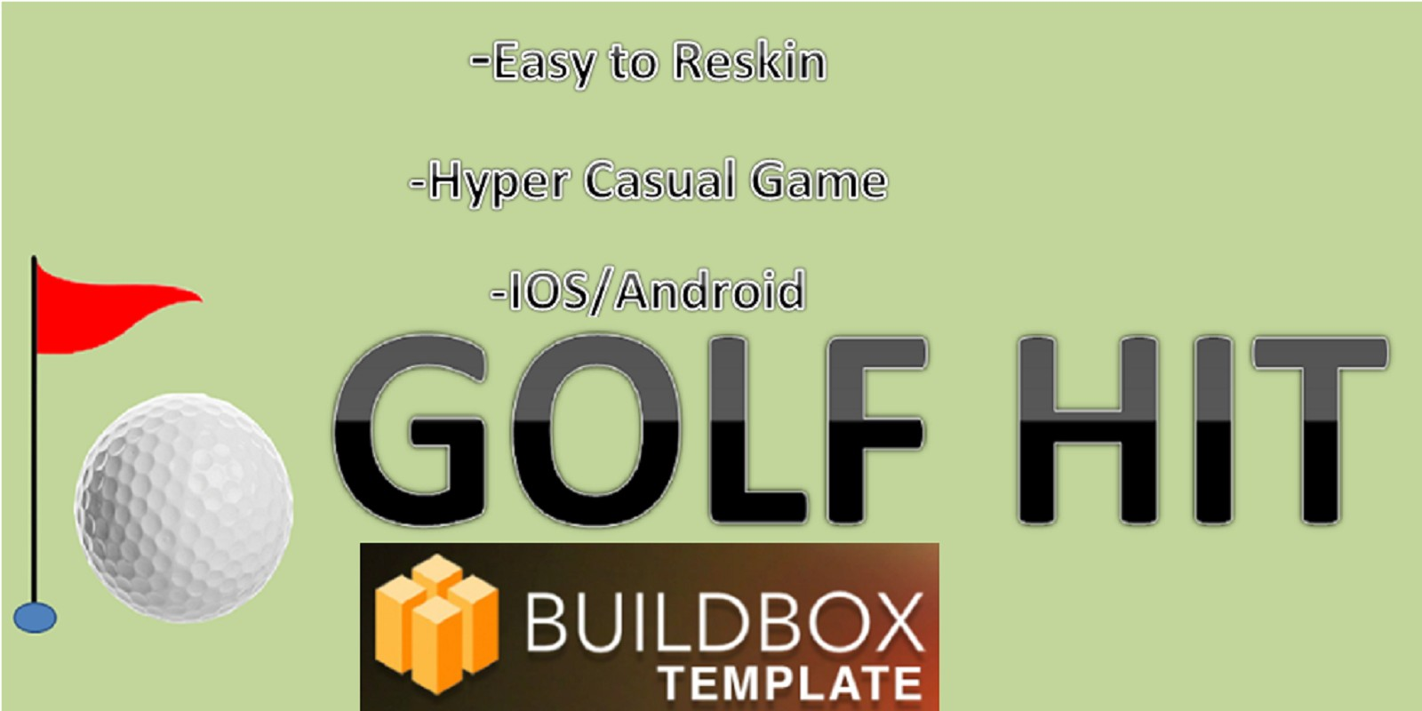 Golf Hit - Buildbox Template