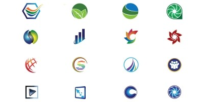 Colorful Logo Icon Set Vector Image