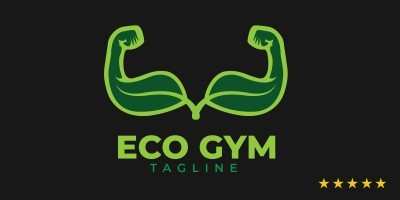 Eco Gym Logo Template