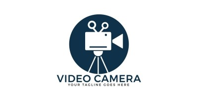 Video Camera Logo Design