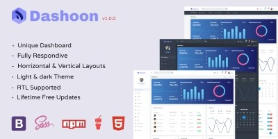 Dashoon - Responsive Bootstrap 4 Admin Dashboard