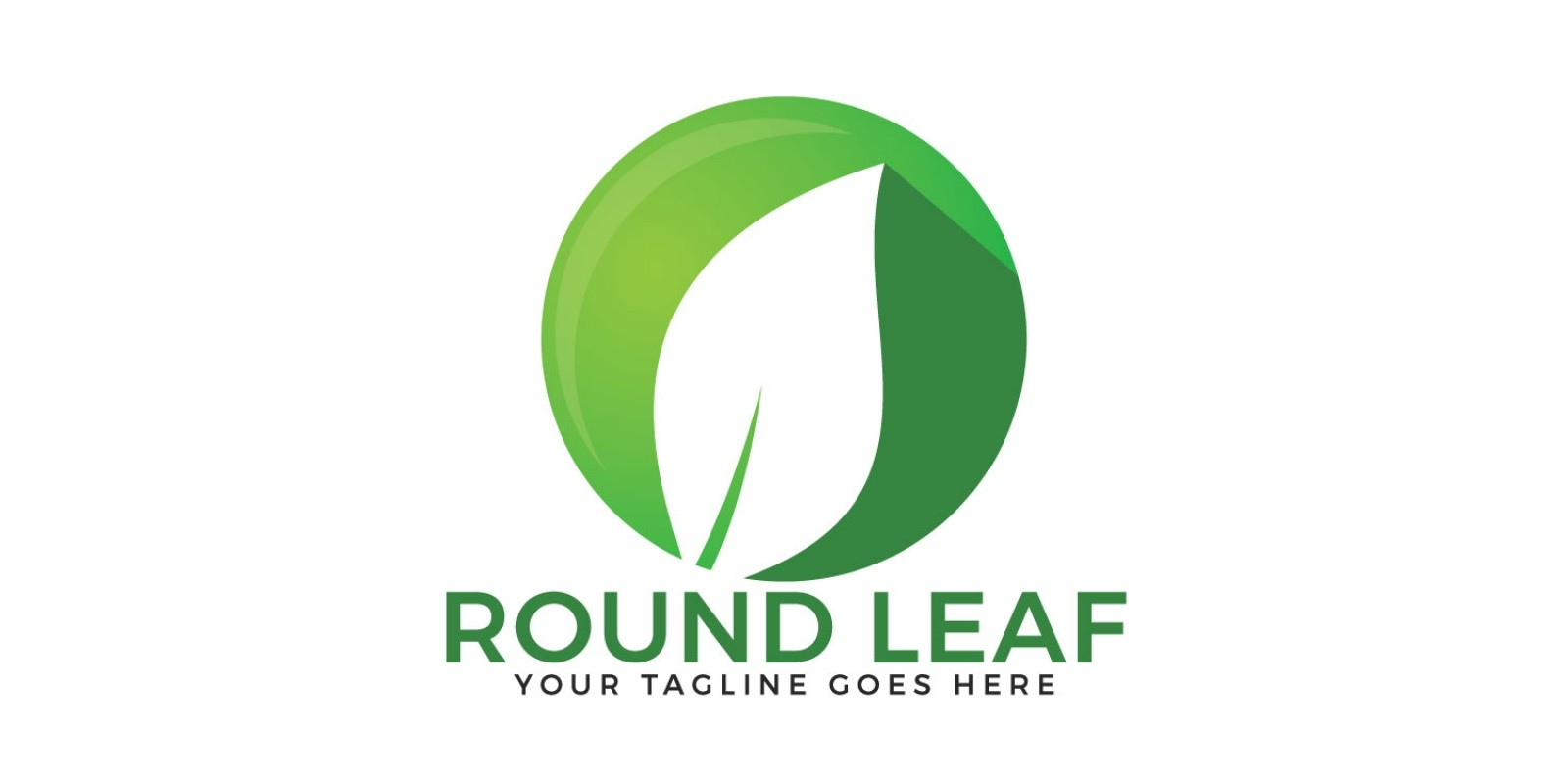 Round Leaf Logo Design