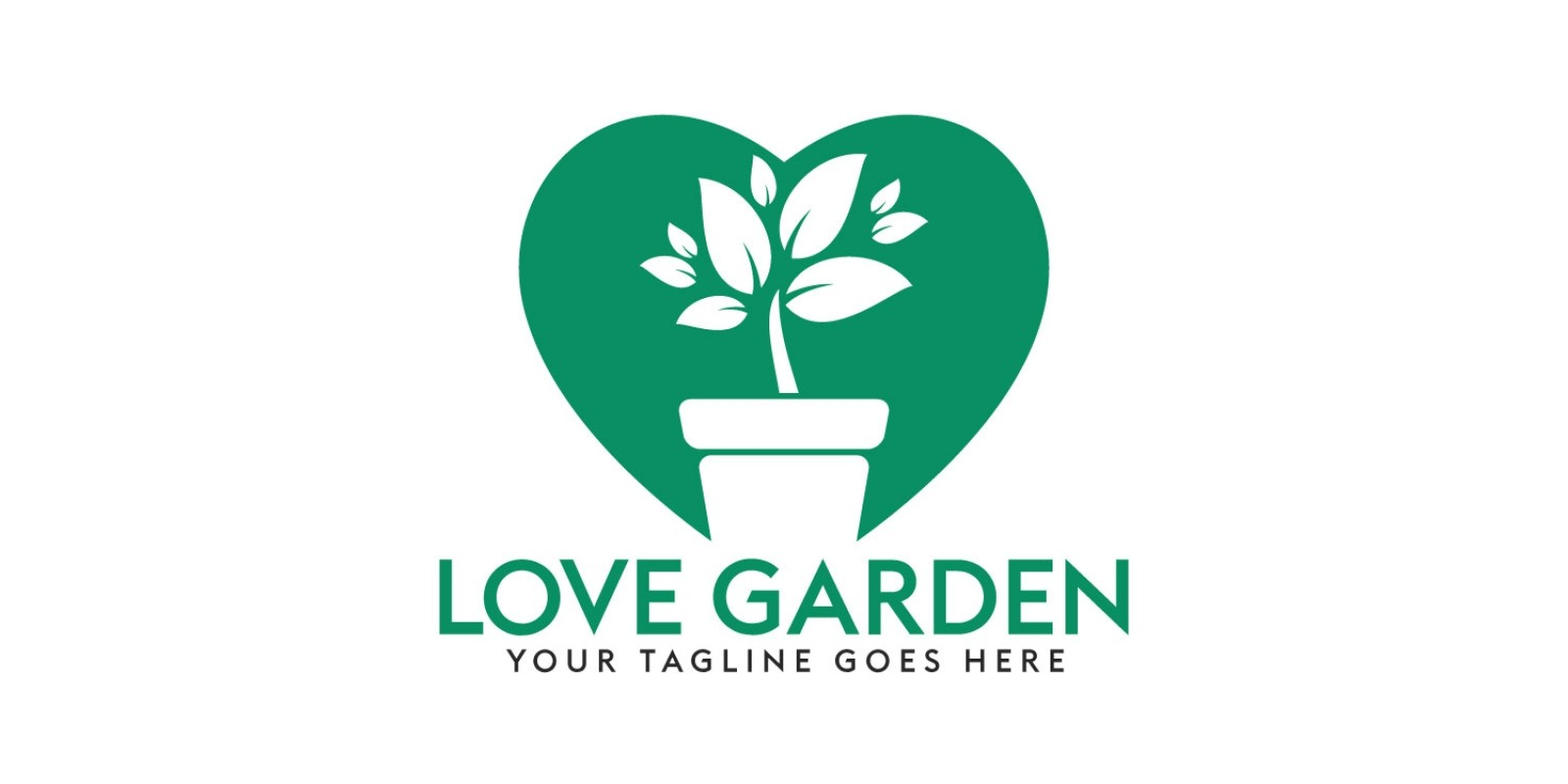 Love Garden Logo Design