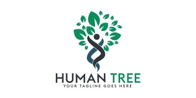 Human Tree Logo Design