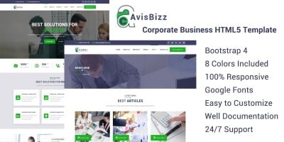 AvisBizz - HTML Template