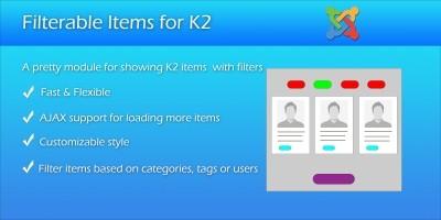 Filterable Items for K2 - Joomla Module