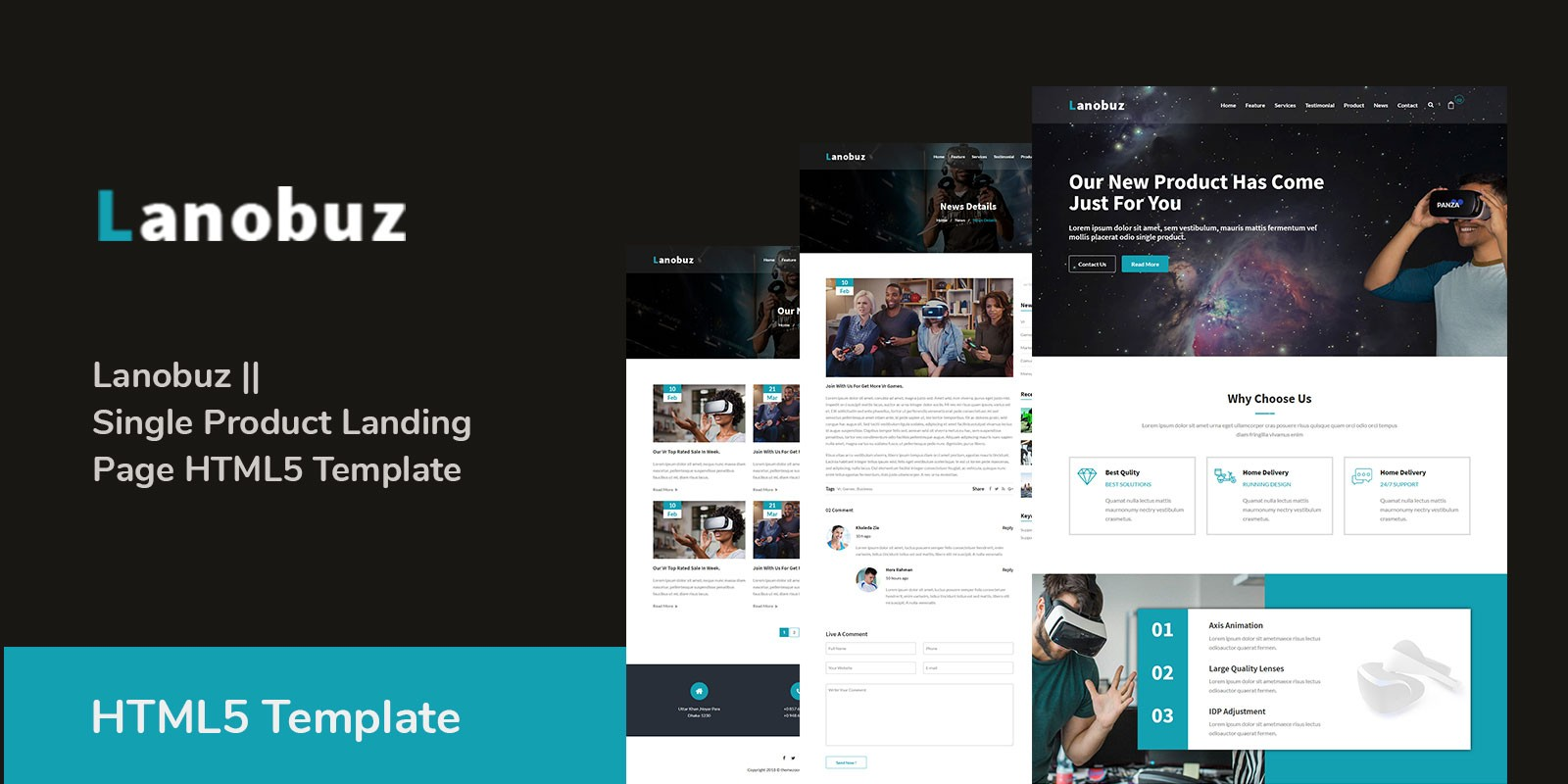 Lanobuz - Single Product Landing Page