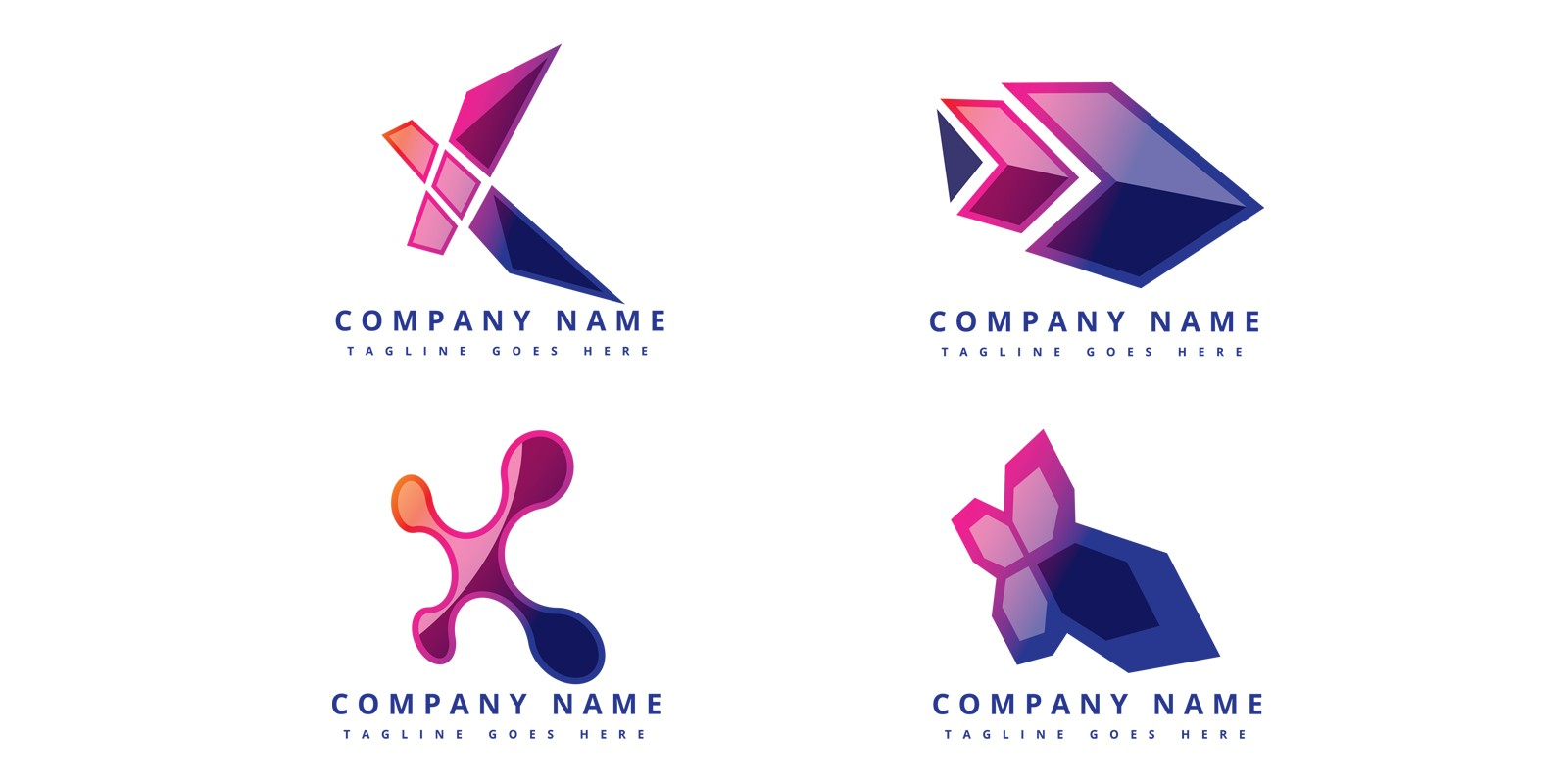 Futuristic, modern and creative digital media logo