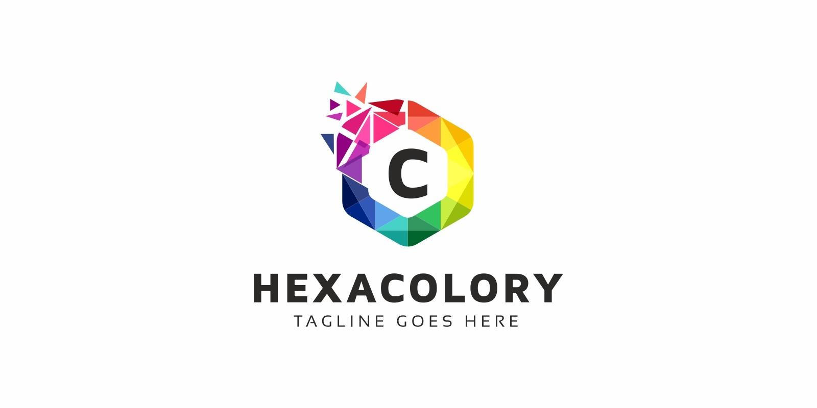 Hexacolory С Letter Logo