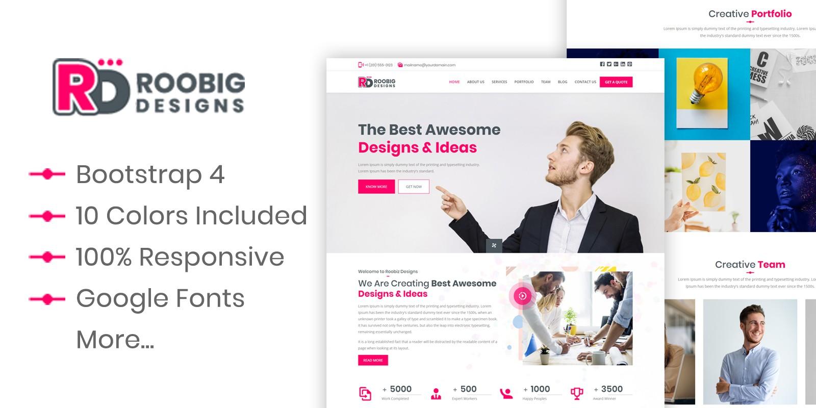 Roobig Designs - HTML Template