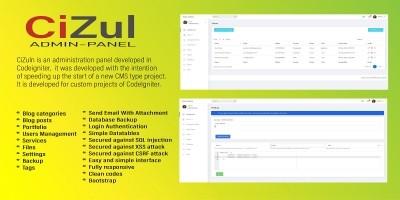 CiZuln Admin Panel CMS Script