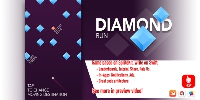 Diamond Run - iOS Source Code