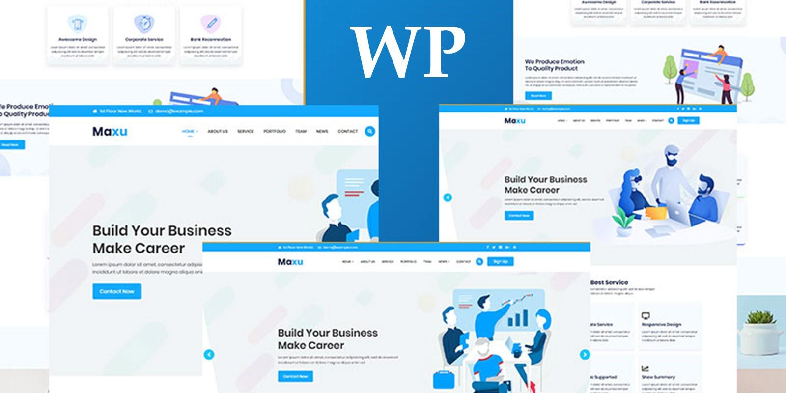 Maxu - Responsive Multi-Purpose WordPress Theme