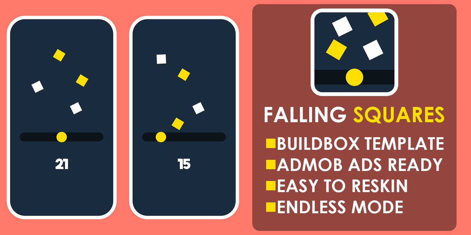 Falling Squares - Buildbox Template BBDOC File