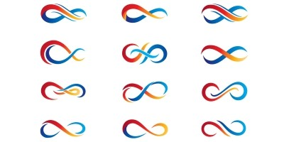 Unique Infinity logo Vector template