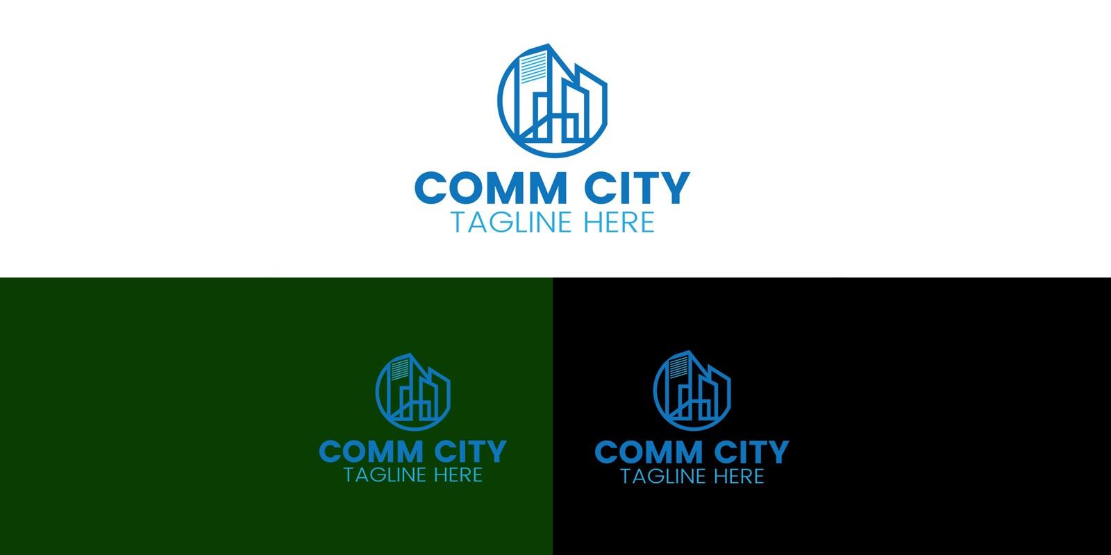 Real Estate City Logo Design Template